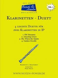 4 leichte Duette für Klarinette in Bb, Vol. 1
