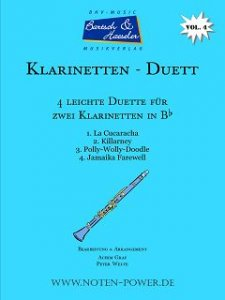4 Easy Duets for Clarinet in Bb, Vol. 4