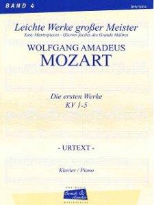 Mozart, Die ersten Werke KV 1-5