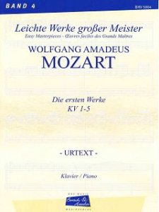 Mozart, The first works KV 1-5