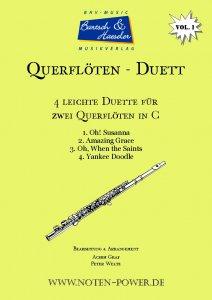 4 leichte Duette für Querflöte in C, Vol. 1