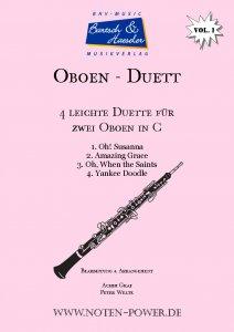 4 leichte Duette für Oboe in C, Vol. 1