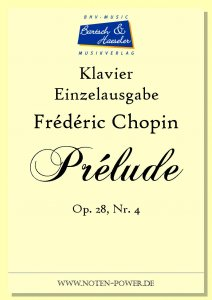 Chopin, Prélude op. 28, Nr. 4