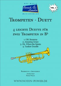 4 Easy Duets for Trumpet (Bugle) in Bb, Vol. 1