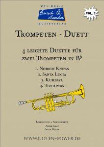 4 leichte Duette für Trompete (Flügelhorn) in Bb, Vol. 2