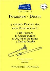4 leichte Duette für Posaune in C, Vol. 1