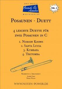 4 Easy Duets for Trombone in C, Vol. 2