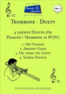 4 leichte Duette für Trombone/Posaune in Bb [TC], Vol. 1