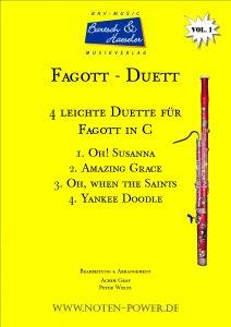 4 leichte Duette für Fagott in C, Vol. 1