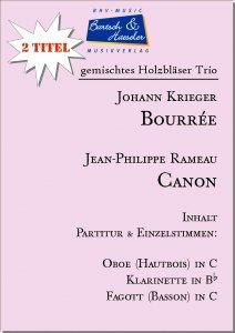 2 Holzbläser Trio: Bourrée & Canon