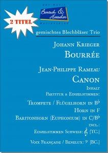 2 Blechbläser Trio: Bourrée & Canon
