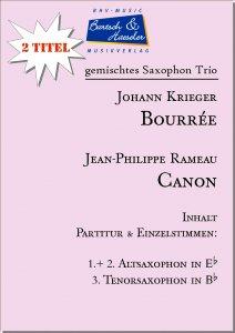 2 Saxophon Trio: Bourrée & Canon (AAT)