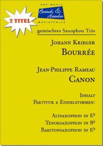 2 Saxophon Trio: Bourrée und Canon (ATB)