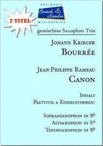 2 Saxophon Trio: Bourrée und Canon (SAT)