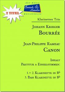 2 Klarinetten Trio: Bourrée und Canon