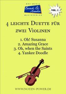 4 leichte Duette für zwei Violinen, Vol. 1