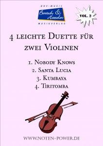 4 leichte Duette für zwei Violinen, Vol. 2