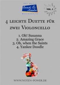 4 leichte Duette für zwei Violoncello, Vol. 1