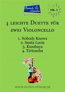 4 leichte Duette für zwei Violoncello, Vol. 2