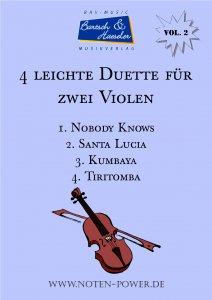 4 leichte Duette für zwei Violen, Vol. 2