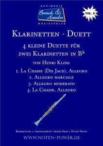 4 kleine Duette für Klarinette in Bb, Vol. 6