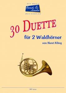 30 Duette für zwei Hörner in F