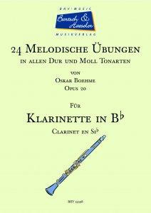 24 Melodische Übungen für Klarinette, op. 20