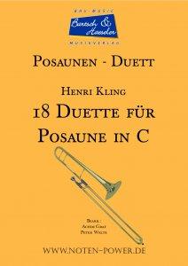 18 Duette für Posaune in C