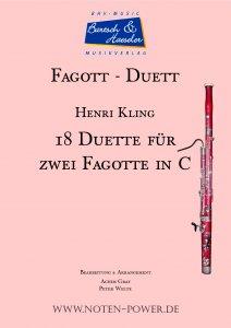 18 Duette für Fagott in C
