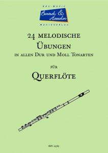 24 Melodische Übungen für Querflöte