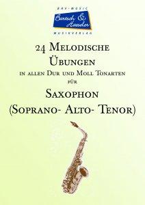 24 Melodische Übungen für Saxophon