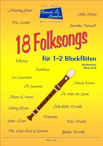 18 Folksongs für 1-2 Blockflöten