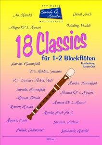 18 Classics für 1-2 Blockflöten